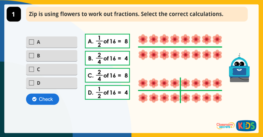 Year 2 Equivalent Fractions Activities