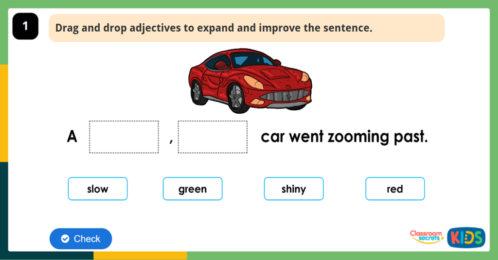 Year 2 expand and improve Sentences using noun phrases
