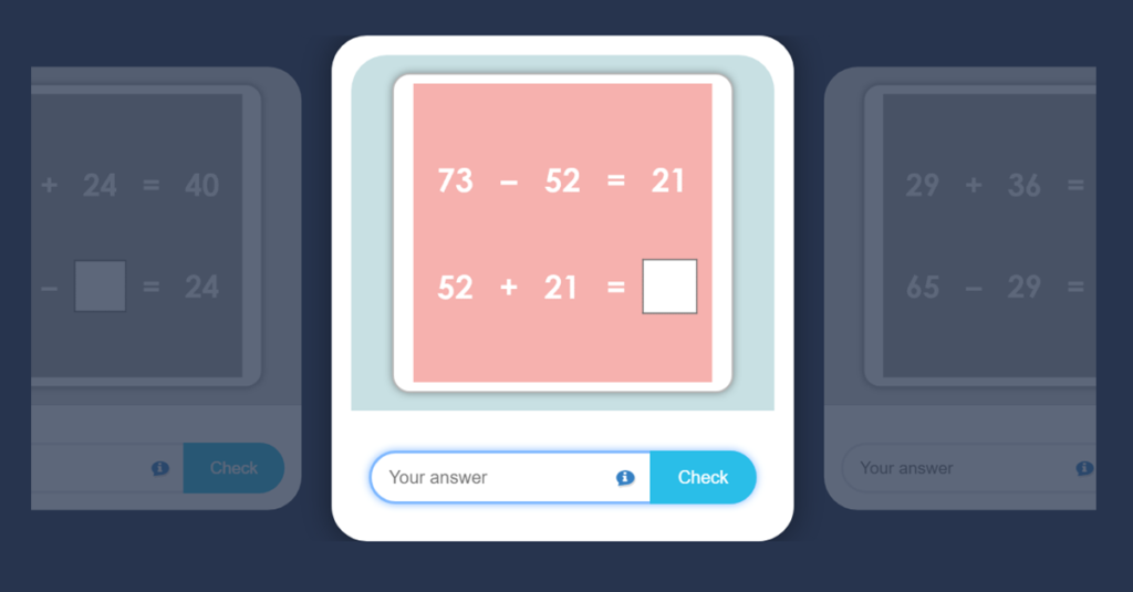 Year 2 Inverse Operations Flashcards Game