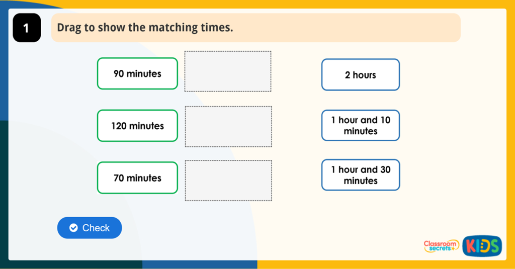 Year 2 Minutes Hours and Days Activities