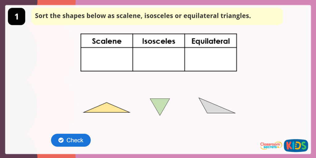 Equilateral, Isosceles and Scalene Triangles Activity