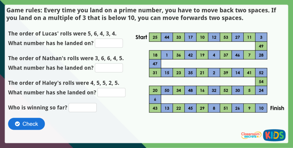 Year 5 Prime Numbers Maths Challenge