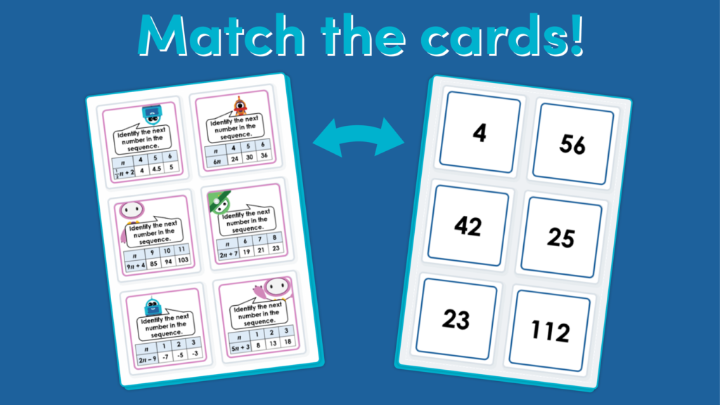Year 6 Linear Number Sequences Game