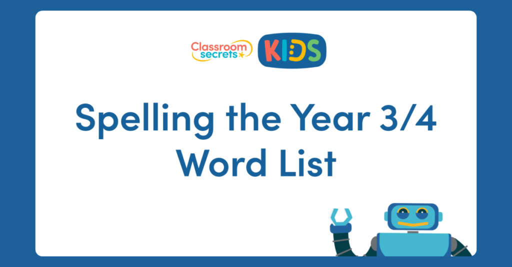 Year 3 Spelling the Year 3/4 Word List Video Tutorial