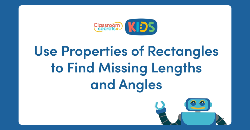 Year 5 Missing Lengths and Angles Video