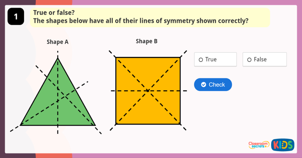 Lines of Symmetry Game