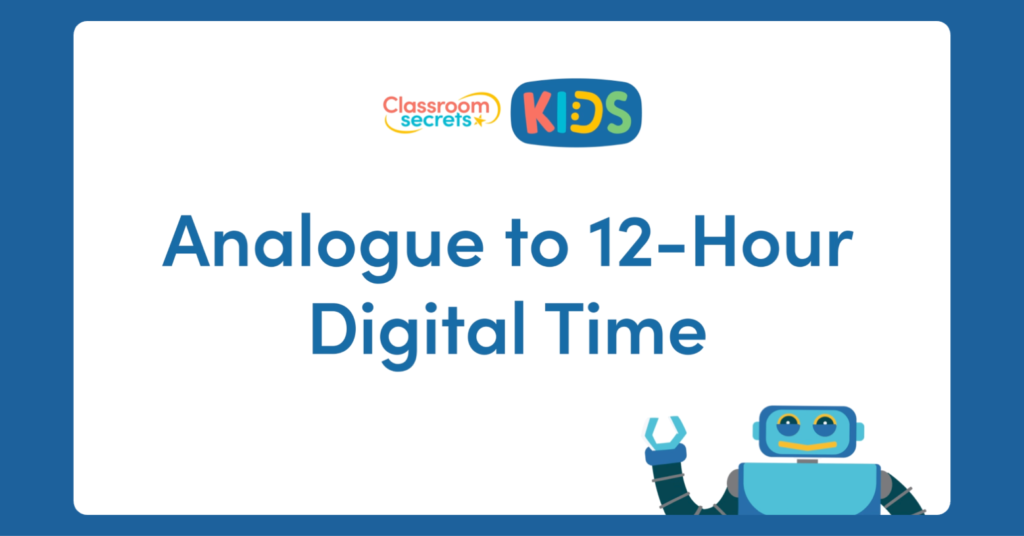 Analogue to 12-Hour Digital Time Video Tutorial