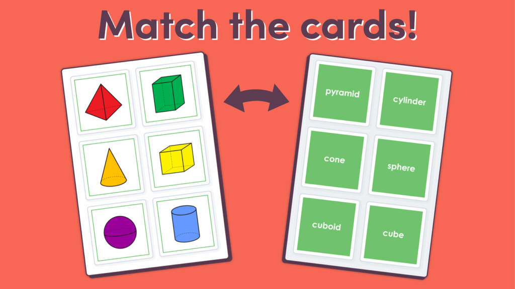 Year 1 3D Shapes Matching Game
