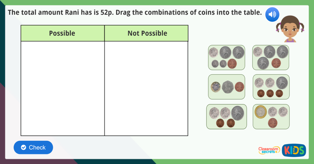 Year 1 Coin Values Activities