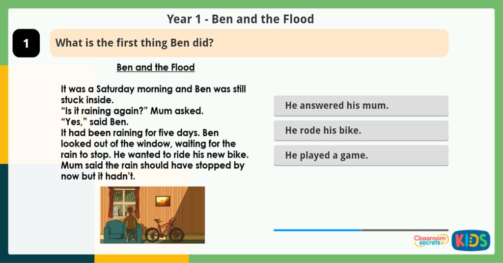 Year 1 Reading Activity