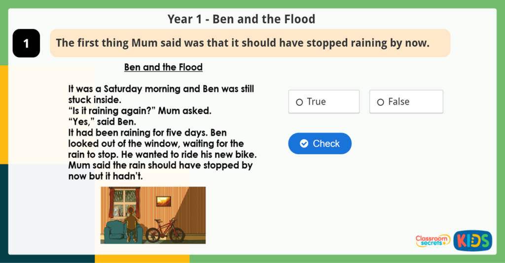 Year 1 Reading Activity