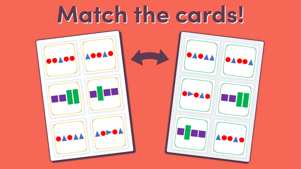 Year 2 Repeating Patterns Matching Game