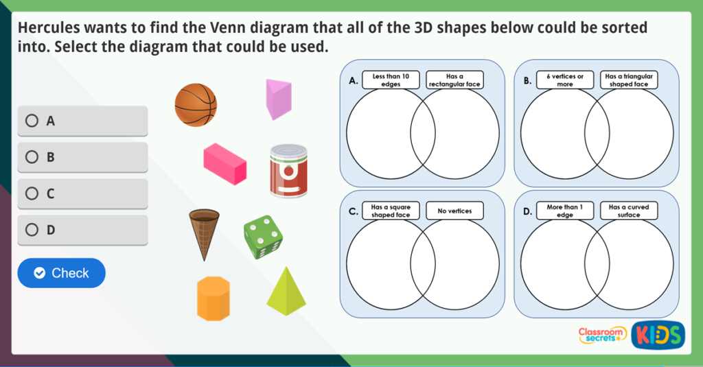 Year 2 Sort 3D Shapes Activities
