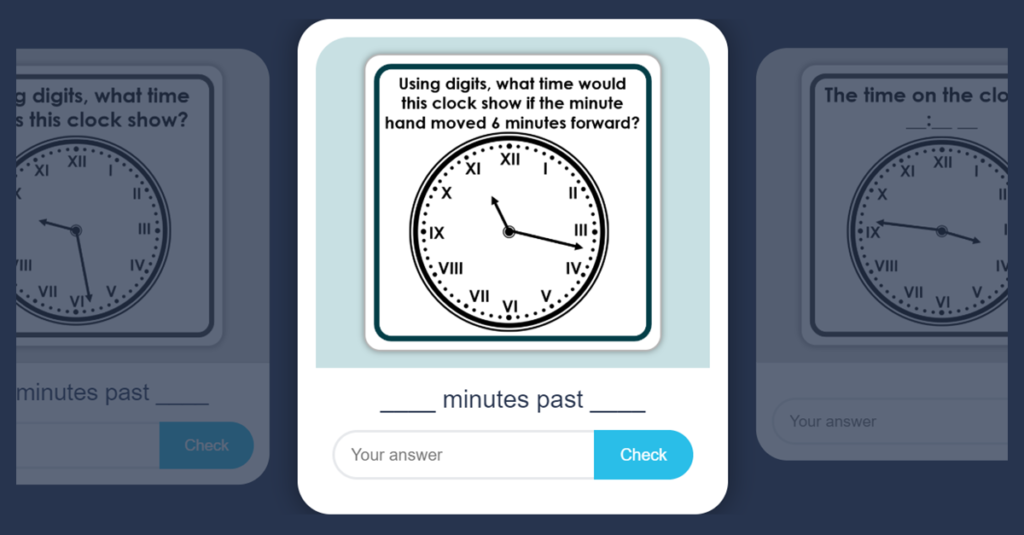 Year 3 Tell the Time Flash Card Game