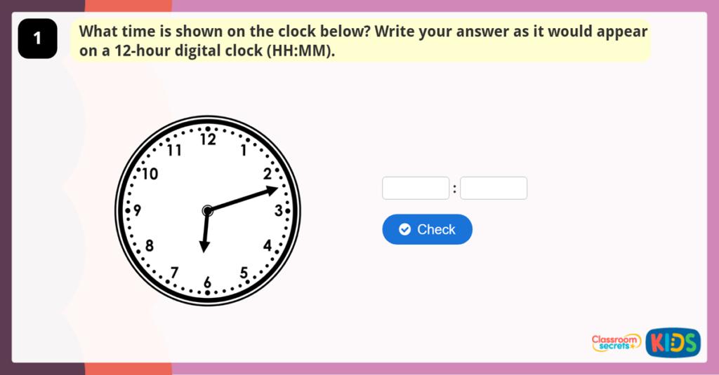 Year 4 Analogue and Digital Clocks Game