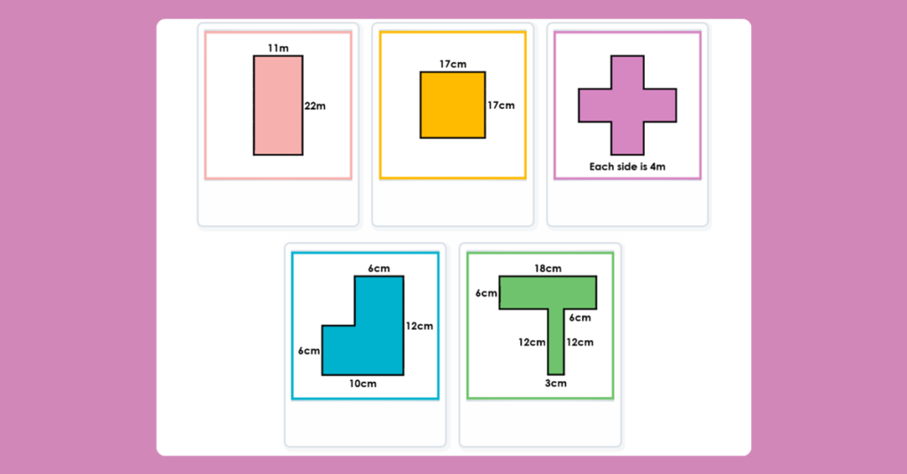 Year 4 Perimeter of Rectilinear Shapes Game