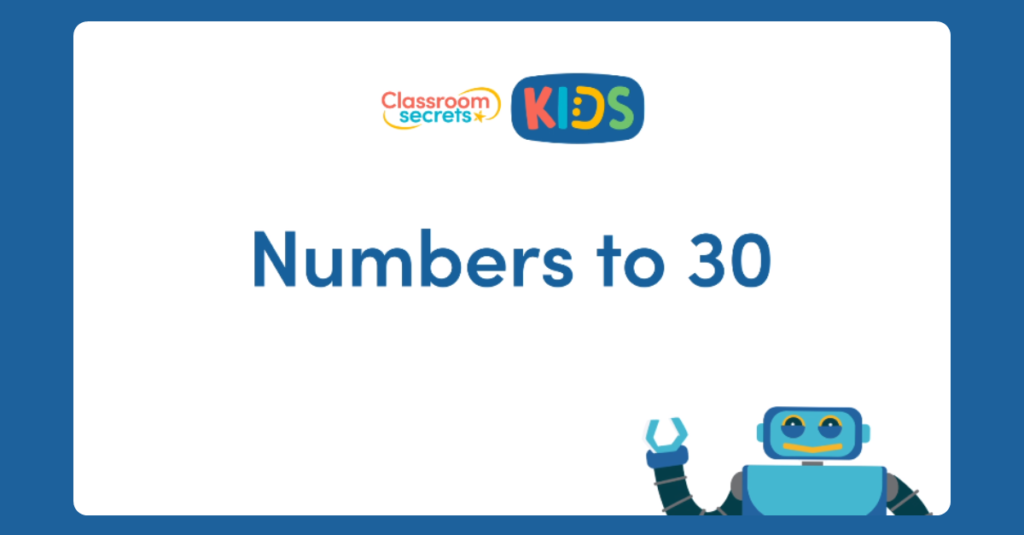 French Numbers to 30 video tutorial