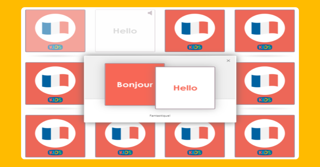 Simple French Vocabulary Activity