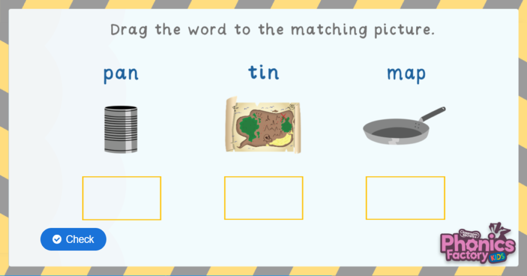 Phase 2 blending match words to pictures