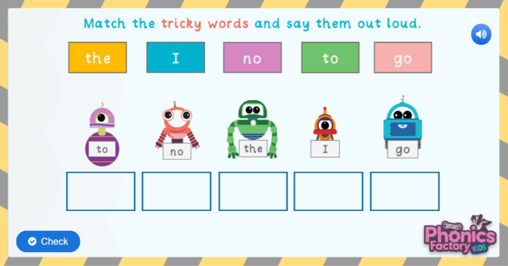 Tricky words game phase 2