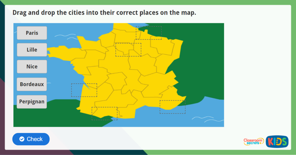 French Cities Activity