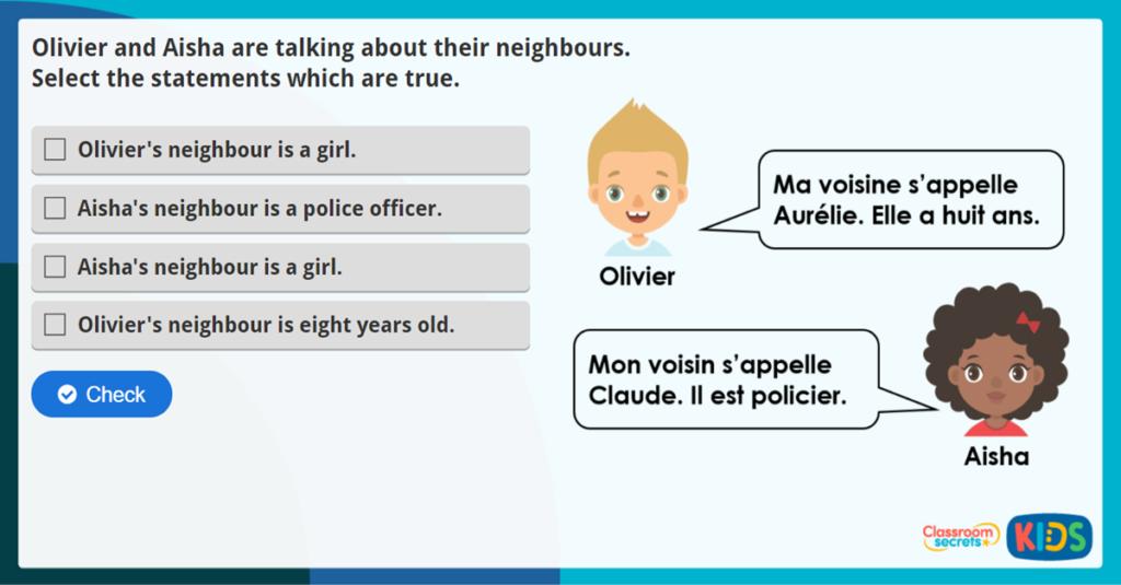 French My Community Activity