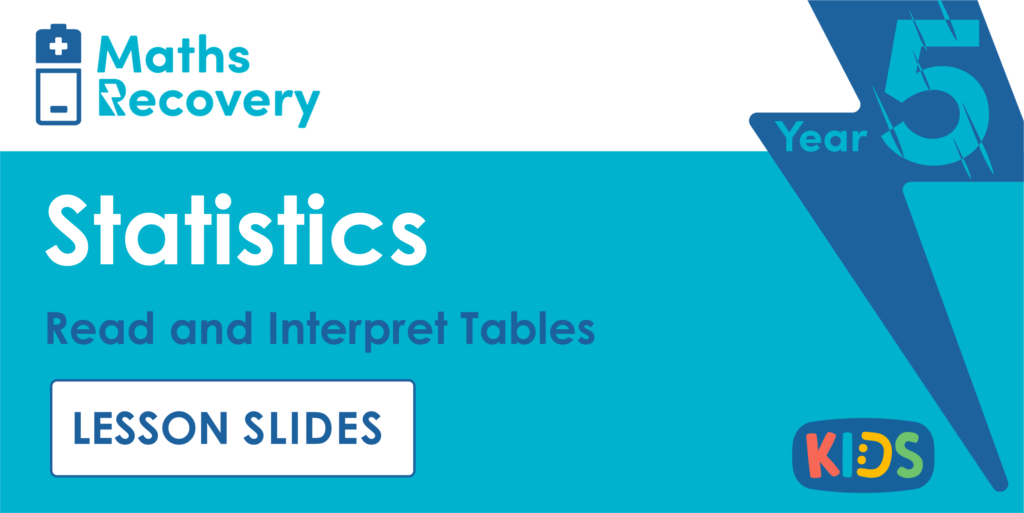 Read and Interpret Tables Year 5 Lesson Slides