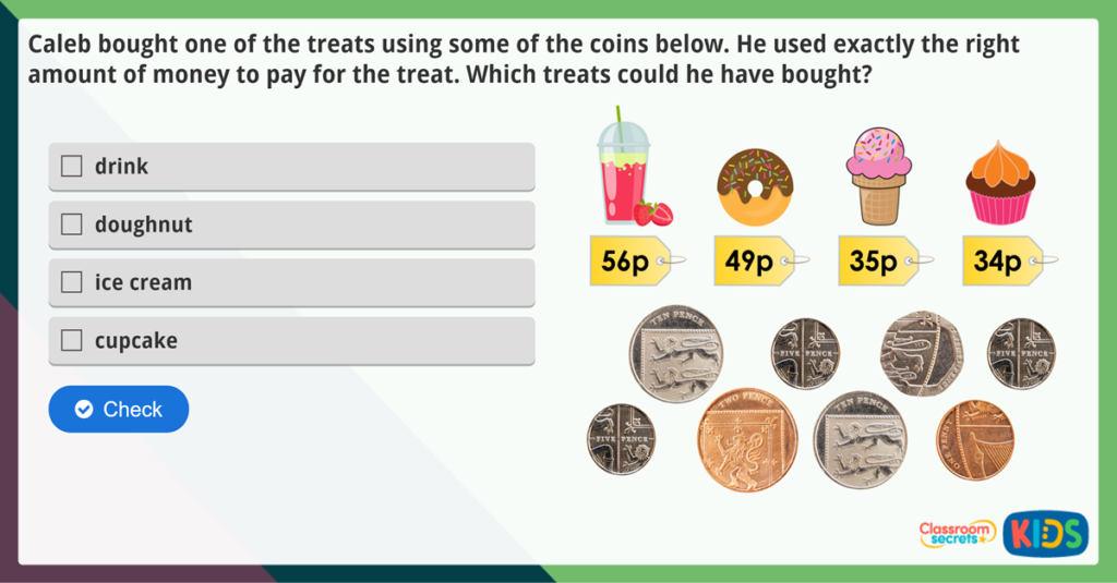 Count Money (Pence) Maths Challenge