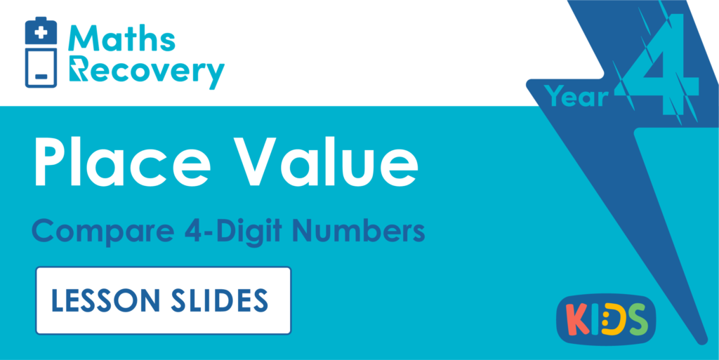 Compare 4-Digit Numbers Year 4 Lesson Slides