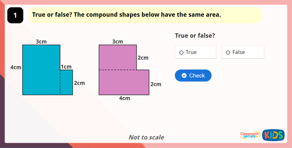 Year 5 Area of Compound Shapes Game