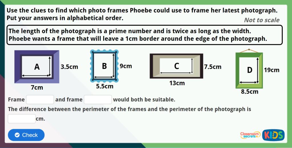 Year 5 Calculate Perimeter Maths Challenge