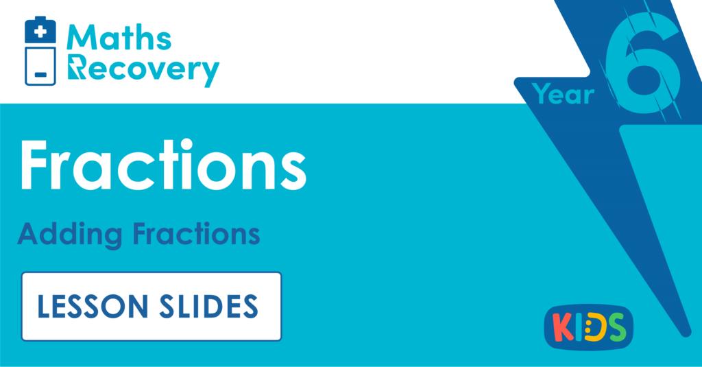 Year 6 Adding Fractions Lesson Slides