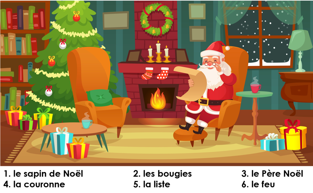 KS2 French Find the Christmas Vocabulary