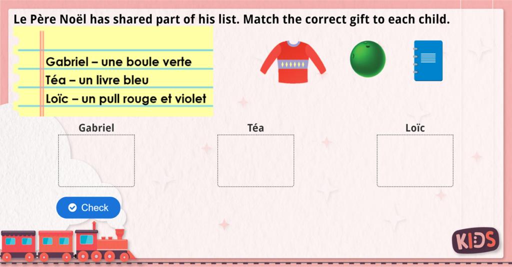 KS2 French Help Père Noël