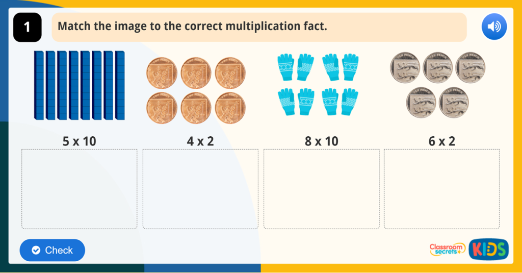 Year 2 Multiplication from Pictures Game