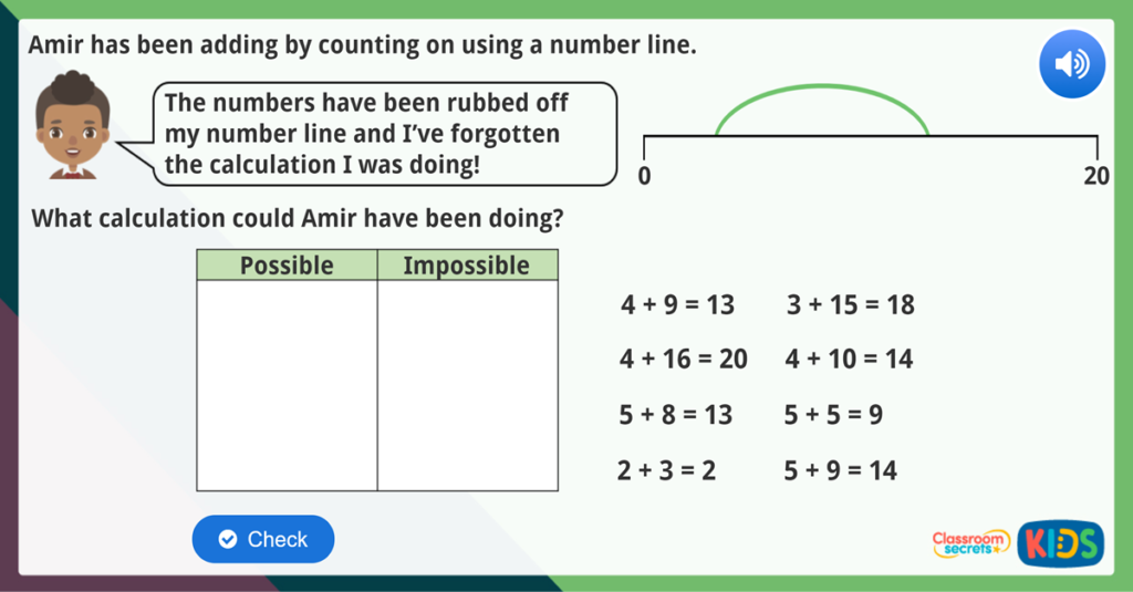 Add by Counting On Maths Challenge