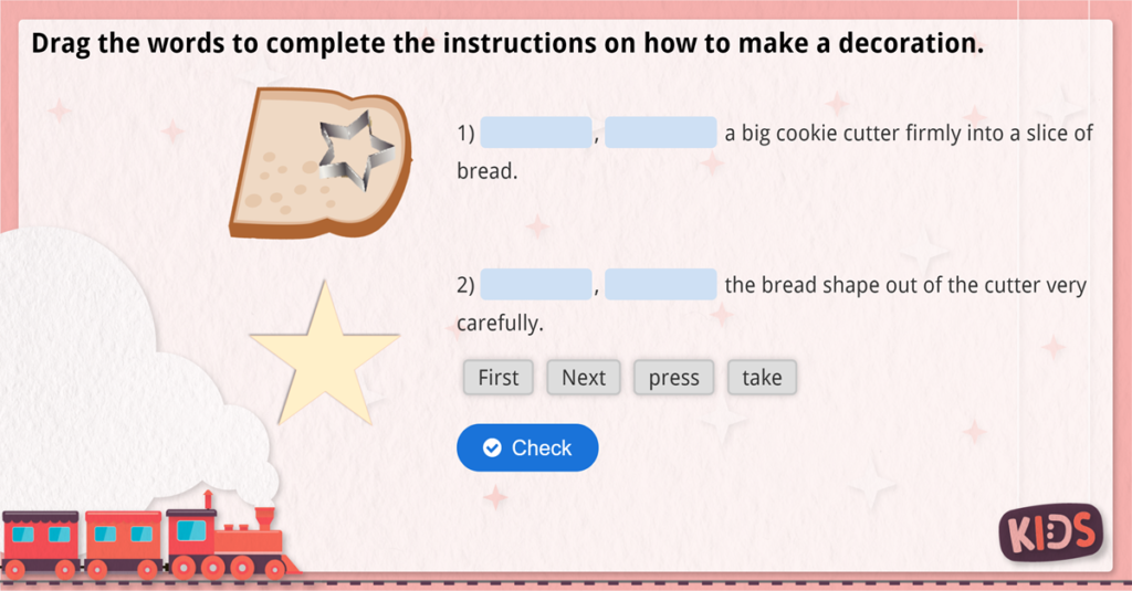 Year 2 Christmas Instructions Activity