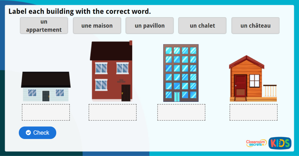 French Houses Activity