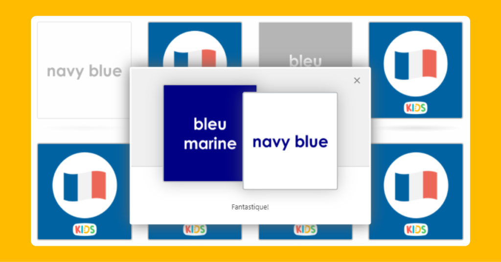 UKS2 French Colours Memory Game