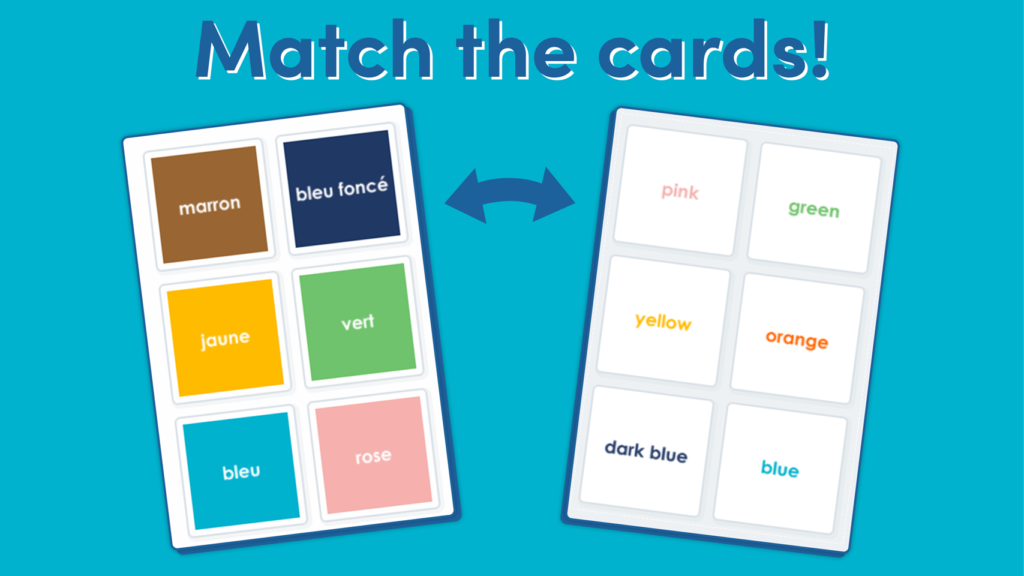LKS2 French Colours Matching Game