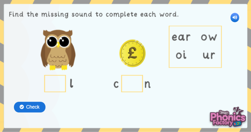 Phase 3 phonics game