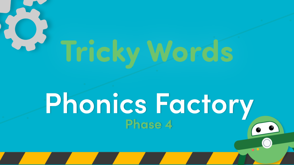 phonics tricky words