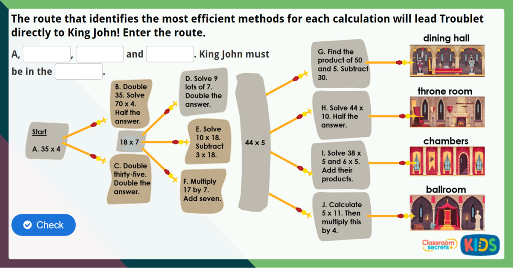 Year 4 Efficient Multiplication Challenge