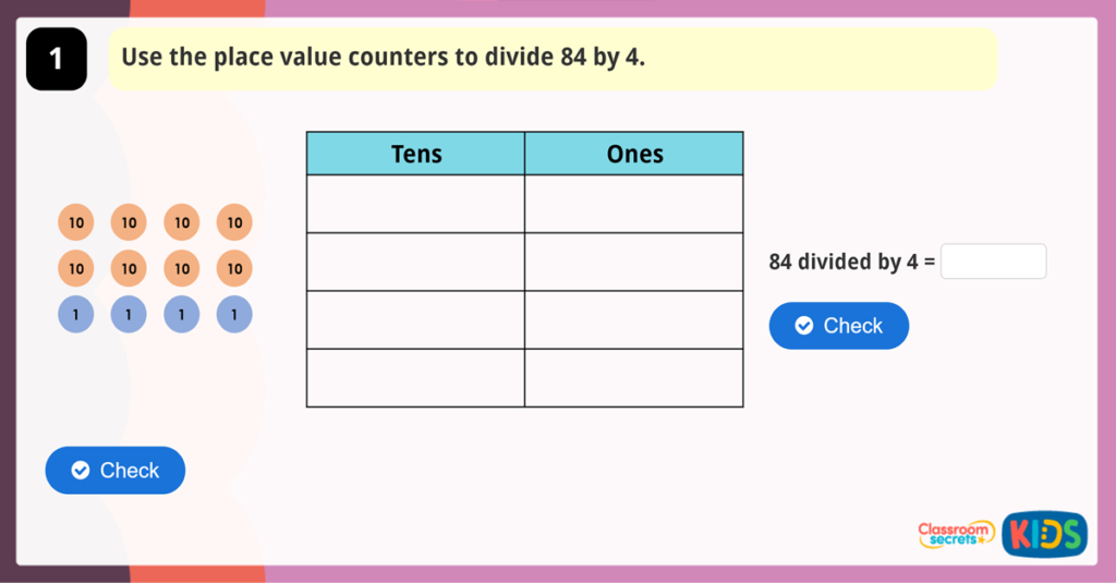 Year 3 Divide 2 Digits by 1 Digit 1 Game