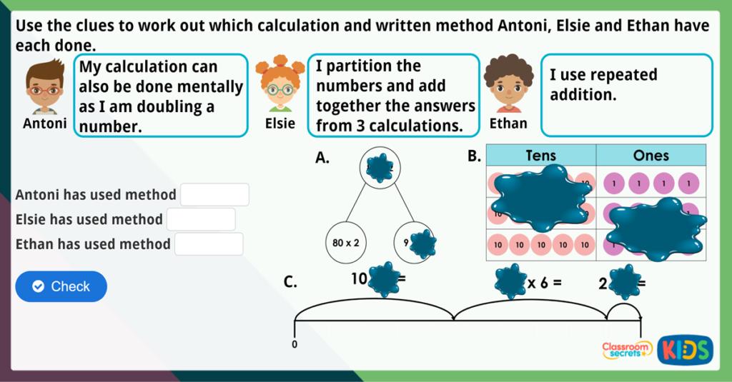 Year 4 Written Methods Maths Challenge