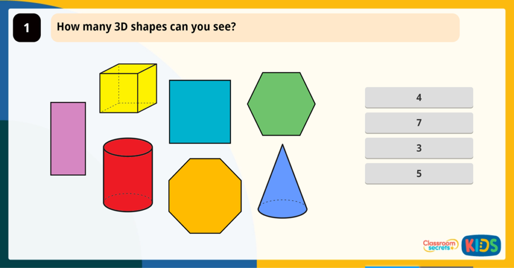 Year 2 Recognise 2D and 3D Shapes