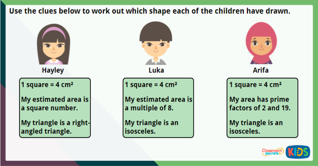 Year 6 Area of Triangle Challenge