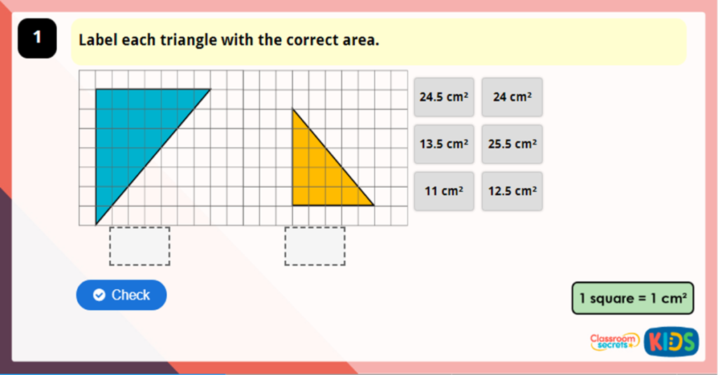 Year 6 Area of a Triangle Game