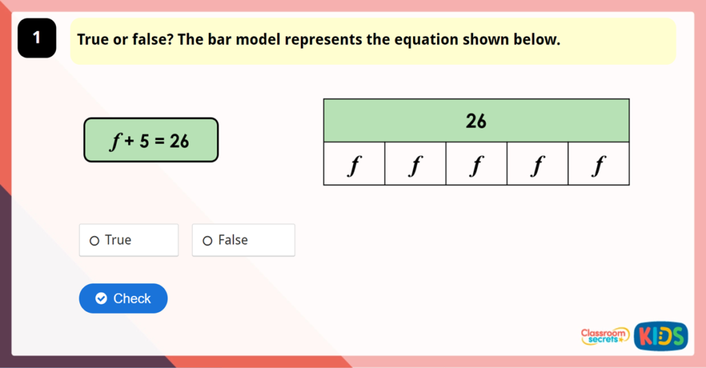 Year 6 One-Step Equations Game