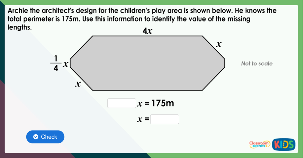 Year 6 One-Step Equations Challenge
